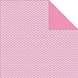 "Sn@p! Color Vibe Double-Sided Cardstock 12""X12""-Pink Chevron/Mini Dot  25 per pack"