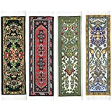 Oriental Carpet Bookmarks #2 - Authentic Woven Carpet (Set of 4)