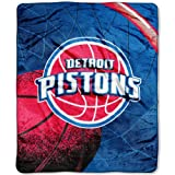 NBA Detroit Pistons 50-inch-by-60-inch Raschel Plush Throw &quot;Reflect&quot; Design