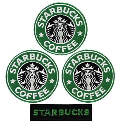 Set of Beautiful Starbucks Embroidered Iron on Patch (2)