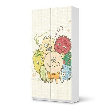 Designfolie ikea pax schrank 201 cm h he 2 t ren for Designfolie selbstklebend