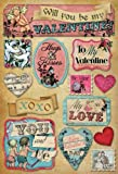 Karen Foster Design Acid and Lignin Free Scrapbooking Sticker Sheet, My Love