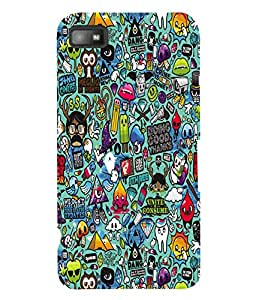 Fuson 3D Printed Jewel Thief Designer Back Case Cover for Blackberry Z10 - D597