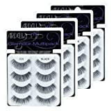 Ardell Multi Pack 105, 4 prs Glamour False Lashes x 4 pack (16 pairs Faux Lashes) (Tamaño: 16 prs)