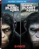 Rise of the Planet of the Apes / Dawn of the Planet of the Apes [Blu-ray] 2-pack