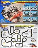Tyco Mattel Hot Wheels Formula World Tour Slot Car Racing Set W/ 2 Cars TYC95715