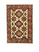 L'EDEN DEL TAPPETO Alfombra Uzebekistan Super Beige/Rojo 198 x 295 cm