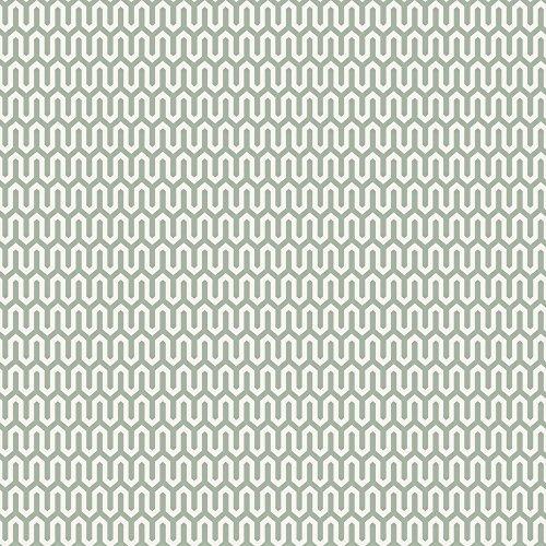 Scandinavian Designers 2735 Vlies-Tapete graphisches Ypsilon Arne Jacobsen Graublau auf Altweiß