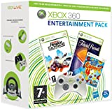 echange, troc Burnout Paradise Ultimate, Trivial Pursuit, and Connect 4 Arcade with Xbox 360 White Wireless Controller  - For Purchase with a