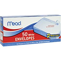 50-Count Mead Press-It Seal-It Business Envelopes (White)