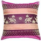 Avarada Print Elephant Sun Decorative Throw Pillow Cover 16x16 Inch Pink