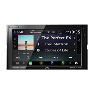 JVC KW-M750BT Compatible with Apple CarPlay, Android Auto 2-DIN AV Receiver (No CD Drive)