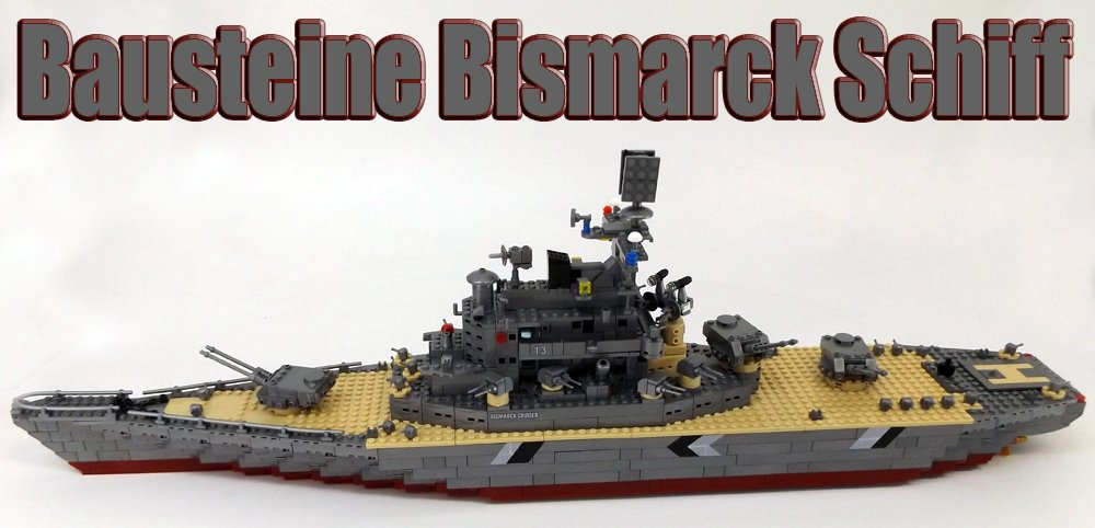 Modbrix 82012 – BISMARCK Bausteine Schiffsmodell mit Sound, 75 cm lang, knapp 1300 Teile! kaufen