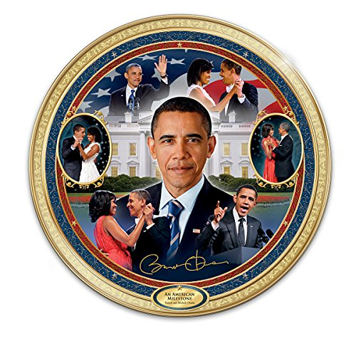 An American Milestone Barack And Michelle Obama Collector Plate by The Bradford Exchange