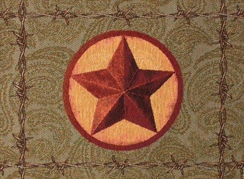 Manual Western Star Collection Tapestry Placemat With Backing, 18 X 12.5-Inch front-937295