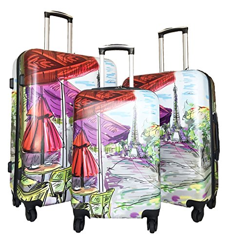 3pc-Luggage-Set-Hardside-Rolling-4wheel-Spinner-Carryon-Travel-Case-Poly-Paris
