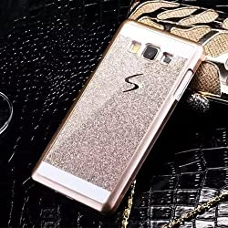 Darrel Samsung galaxy j2 Glittering sparkle Gold hard back cover