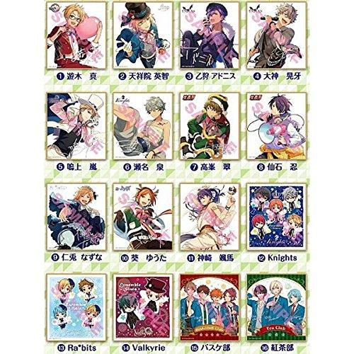 あんさんぶるスターズ! ビジュアル色紙コレクション7 BOX商品 1BOX = 16個入り、全16種類