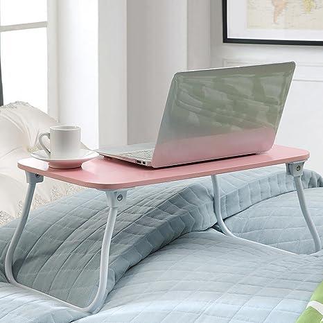 uzi-lazy persone benessere semplice Exquisite piccoli tavoli, letto multifunzione con pieghevole Mobili scrivania, Lazy impermeabile letto scrivania per computer Pink