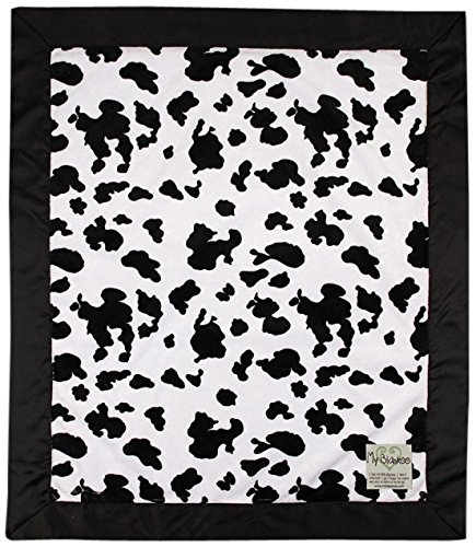 "My Blankee Cow Minky Baby Blanket, 14"" X 17"", Black/White"