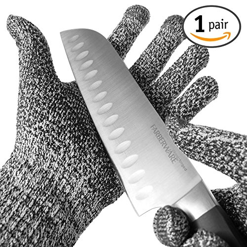 TYH Supplies Cut Resistant Safety Gloves High Performance Level 5 Protection EN388 Food Grade, Cutting and slicing Hand protection Kitchen