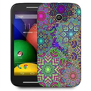 Snoogg Electric Garment Pattern 2420 Designer Protective Phone Back Case Cover For Motorola E / Moto E