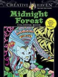 img - for Creative Haven Midnight Forest Coloring Book: Animal Designs on a Dramatic Black Background (Adult Coloring) book / textbook / text book