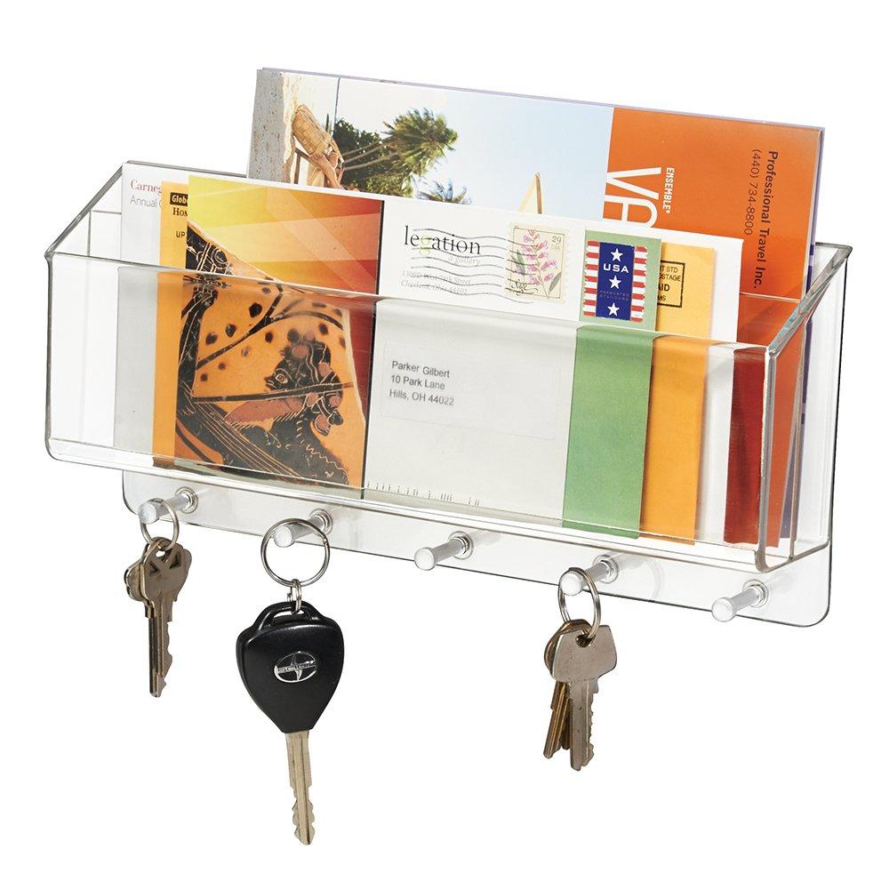 MDesign Mail Letter Holder Key Rack Organizer For Entryway