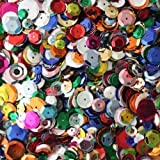 BULK CRAFT CUP SEQUINS MIXED COLORS and SIZES ~ Great Big Pack ~ Over 5,000 sequins (Color: Assorted)