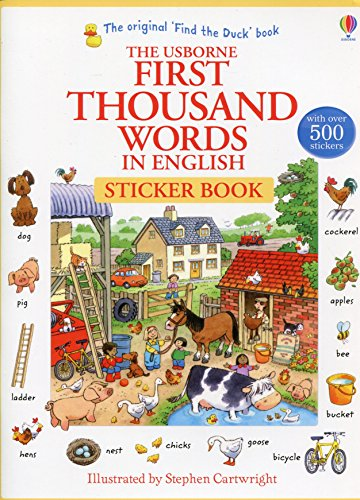 First Thousand Words In English. Sticker Book (First Thousand Words Stickr Bk)
