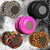 Patuoxun Waterproof Portable Wireless Bluetooth 3.0 Mini Speaker Shower Pool Car Handsfree Mic for Apple iphone 4/4S,iPhone5/5S, ipad ipod Sumsang galaxy S4, Note3,Tablet PC/Other Bluetooth Moblie Phone---Pink(You can use it in your bathroom, bedroom and