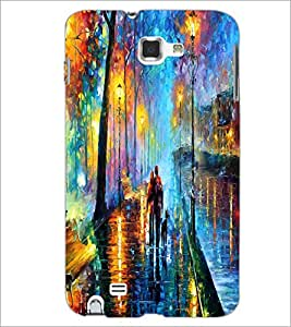 PrintDhaba Abstract Art D-1149 Back Case Cover for SAMSUNG GALAXY NOTE 1 (Multi-Coloured)