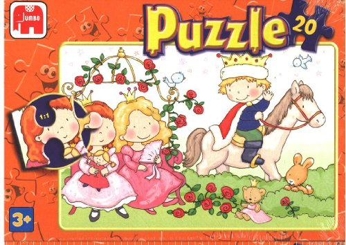 Prince and Princes Riding a Horse 20pc Jigsaw Puzzle - Jumbo 272B