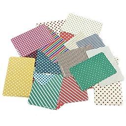 ADB Inc 54pcs Washi Scrapbook Basic Masking Tape Craft Stickers Pack Decorative Labelling Art Adhesives