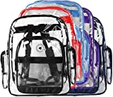 K-Cliffs Clear Transparent PVC School Backpack / Outdoor Backpack with Color Trim
