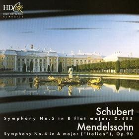 Schubert: Symphony No. 5; Mendelssohm: Symphony No. 4