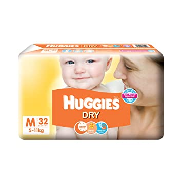 Image result for Huggies New Dry Medium Size Diapers (32 Counts)