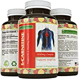 Pure L Carnitine Tartrate 500 Mg Supplement For Men and Women - Fast Acting Antioxidant To Increase Athletic Performance & Fitness - Promotes Weight Loss And Energy - Improve Mental Clarity & Memory
