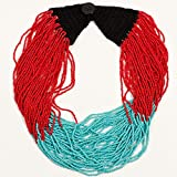 Izta Necklace- Pueblo Red and Turqouise