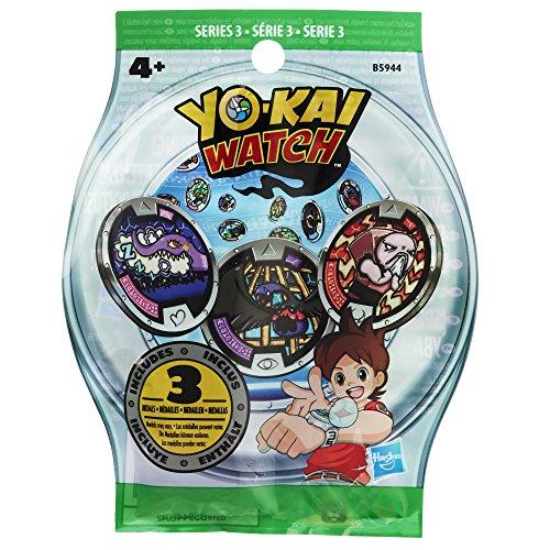 Yokai - Sobre con 3 medallas sorpresa para el reloj Yo-Kay (Hasbro B5944EU4)