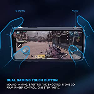 Mobile Game Controller Case GameSir i3, Protective Phone Cover with Dual Touch Button L1R1 for PUBG Gamepad Grip for iPhone 6P/7P/8P/X/XS/XS Max/XR (iPhone XR) (Tamaño: iPhone XR)