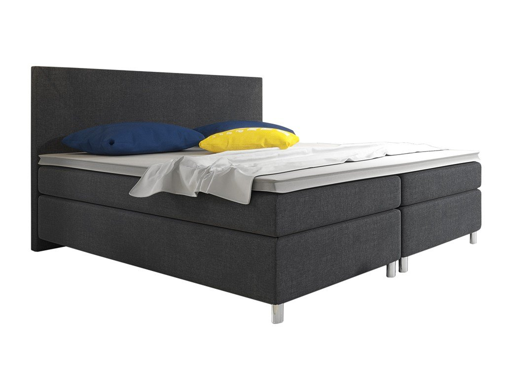 Boxspringbett Berlin 180x200 cm Webstoff Anthrazit
