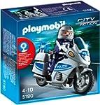 PLAYMOBIL 5180 Polizeimotorrad mit Bl...