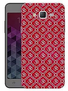 "Humor Gang Almighty Om Namah Shivaya - Red Printed Designer Mobile Back Cover For ""Samsung Galaxy J5"" (3D, Matte, Premium Quality Snap On Case)"