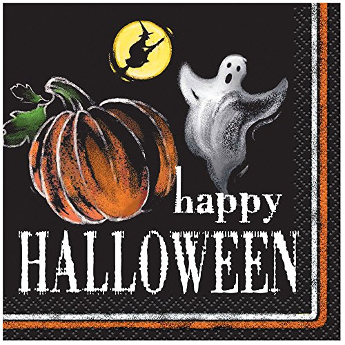 Ghostly Halloween Beverage Napkins, 24ct - 1