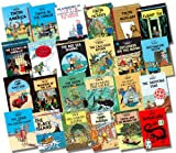 Herge COMPLETE Adventures of Tintin Hardback Collection, 24 Books, RRP £263.76 (Land of Soviets, Congo, America, Cigars of the Pharaoh, Blue Lotus, Broken Ear, Black Island, Shooting Star, Secret of the Unicorn, Red Rackham's Treasure, Destination Moon.