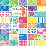 Moda Ticklish Charm Pack, Set of 42 5-inch-by-5-inch Precut Cotton Fabric Squares