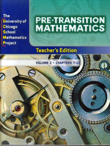 Pre-Transition Mathematics, Vol. 2, Teacher's Edition