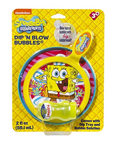 Little Kids Nickelodeon Sponge Bob Square Pants Dip and Blow Bubbles