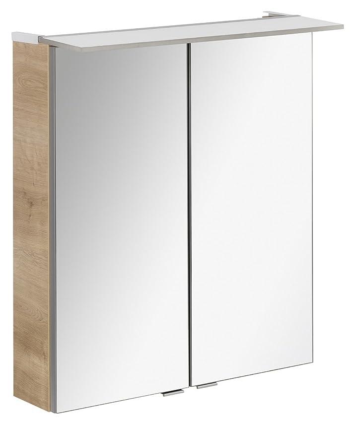 Fackelmann LED specchio da bagno 60cm Rovere Chiaro efficienza energetica A + + Serie B. perfetto